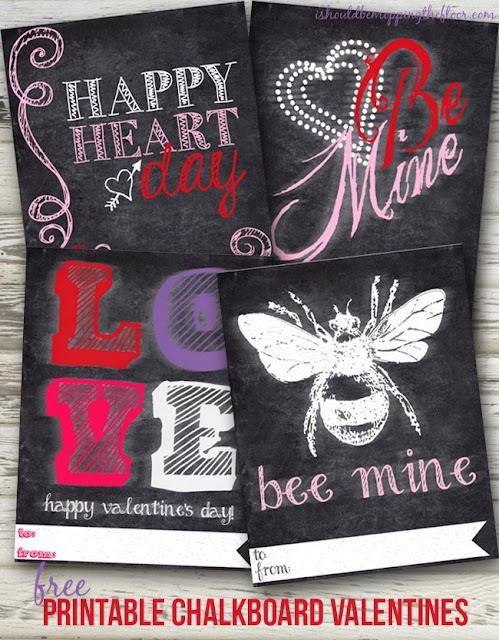 free printable chalkboard valentines