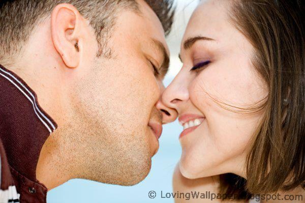 couple love kissing