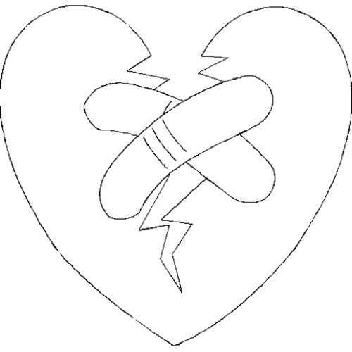 Free Coloring Pages Broken Hearts Coloring Pages