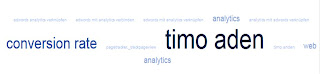 Google Analytics - Begriffswolke