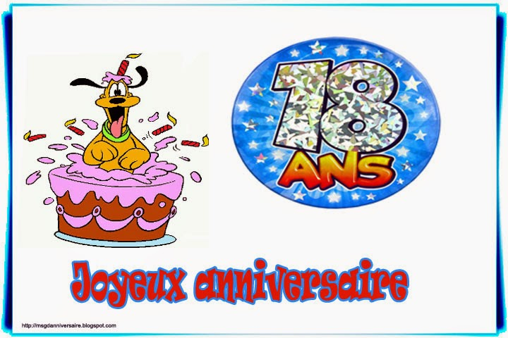 Hervorragend Texte anniversaire humoristique 18 ans | sms d'anniversaire  YU94
