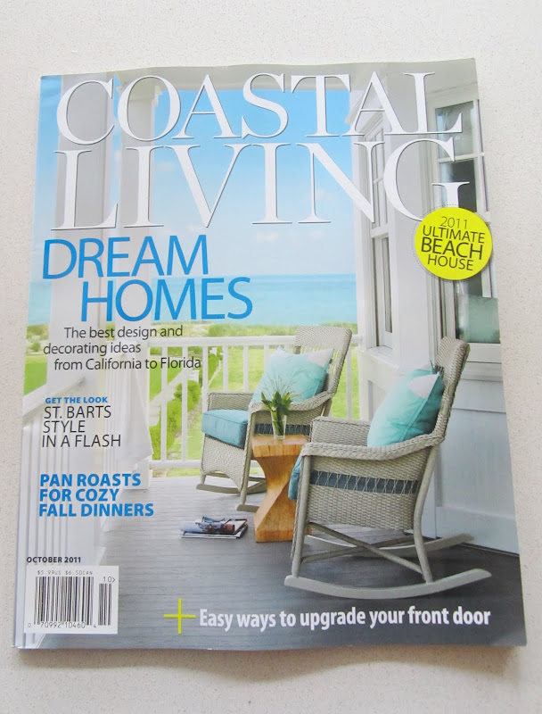 October 2011 cover of Coastal Living