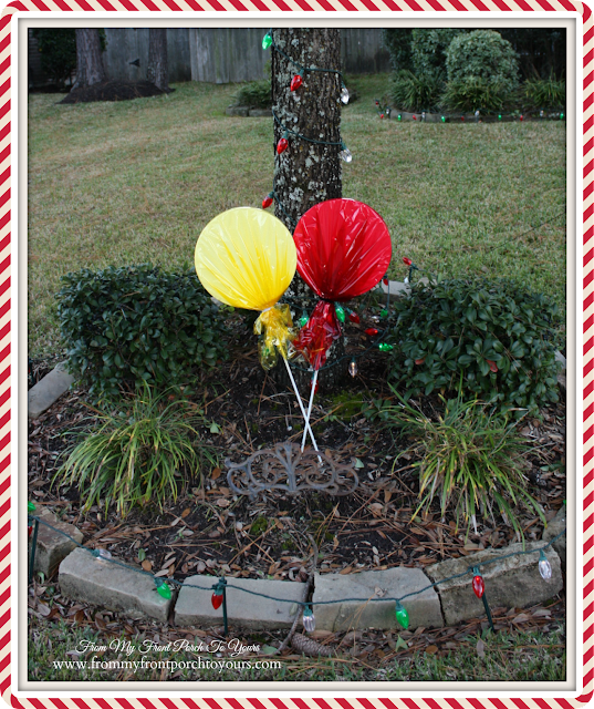 Christmas Yard Decor-Lollie Pop Yard Stakes-Christmas Front Porch-From My Front Porch To Yours