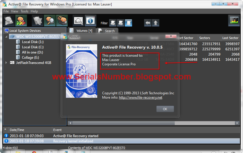 Name: Active File Recovery Professional v10.0.5