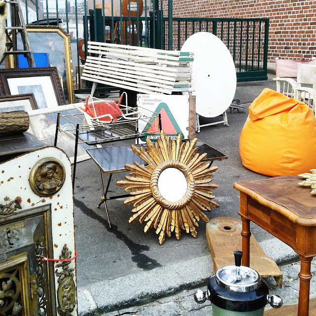 Miroir soleil / Brocante Amiens / Octobre 2015 / Photos Atelier rue verte /