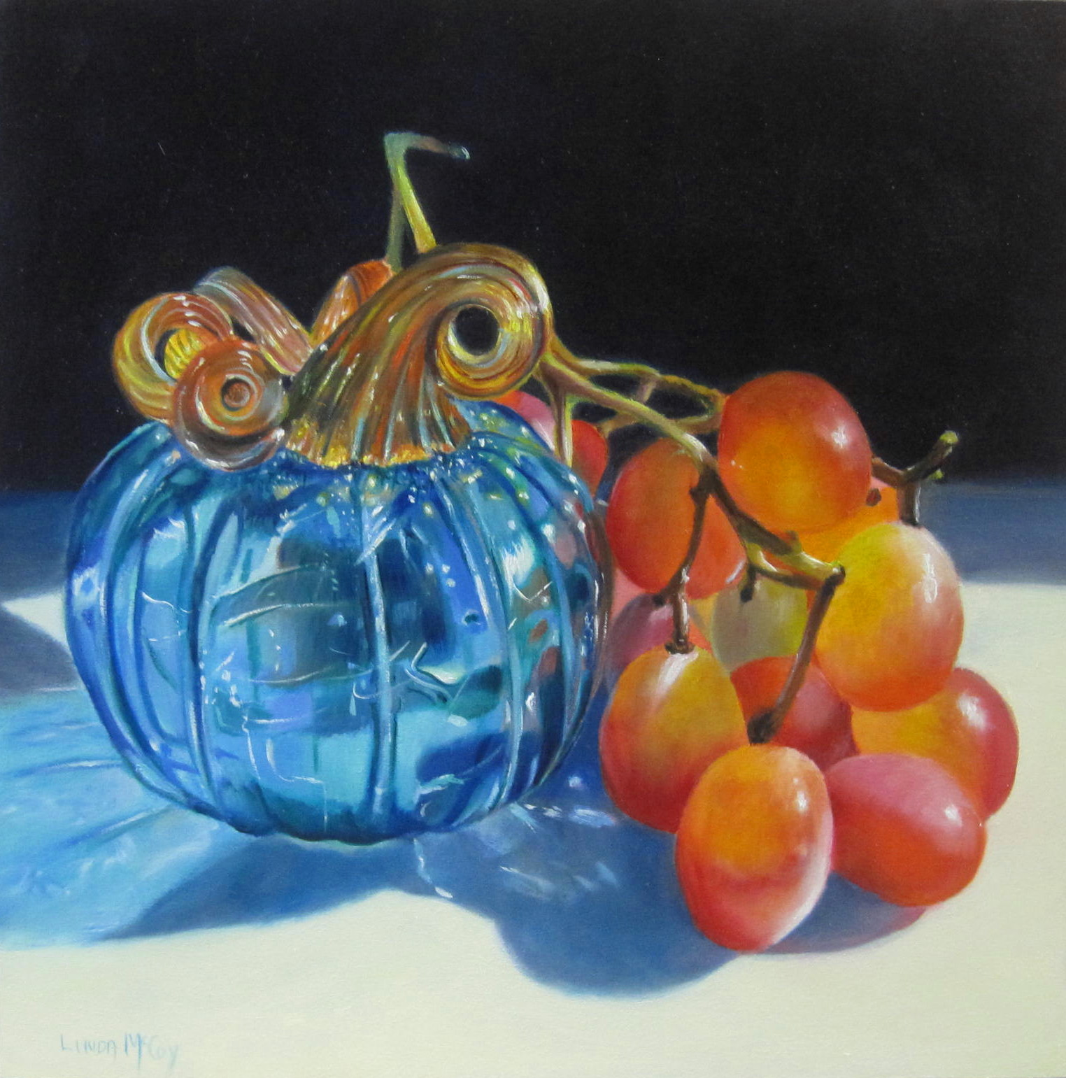 Linda mccoy glass act oil painting by linda mccoy for How to paint glass with oil paint