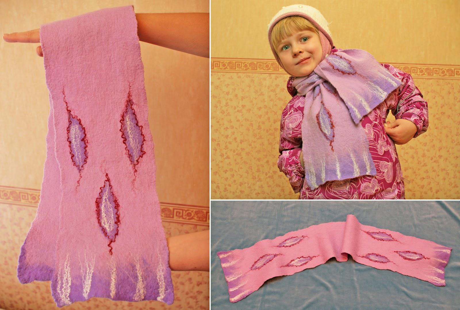 Как свалять шарф