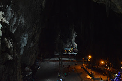 Interiors of the temple cave in batu caves