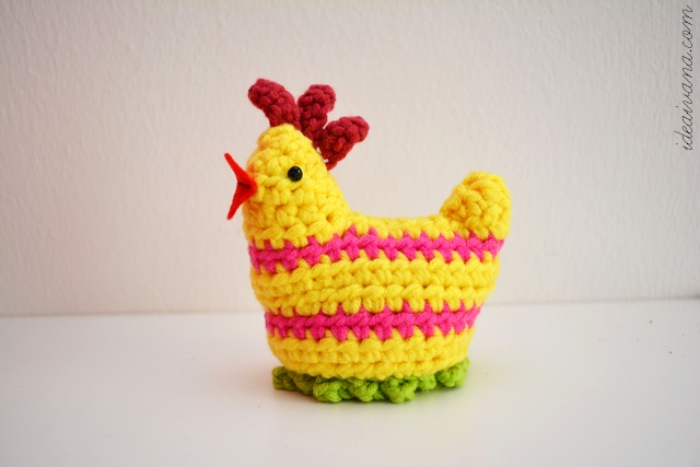 easter crochet chick egg cosy free pattern
