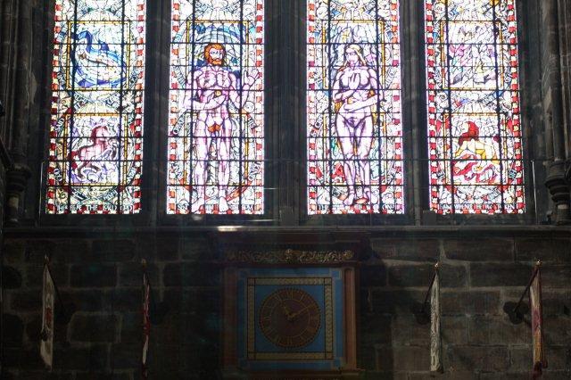 Vidrieras en la Catedral de Glasgow