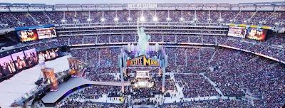 estadio de wrestlemania, vista aerea del estadio donde se realiza wrestlemania, el mundial de la lucha libre por wwe en abril
