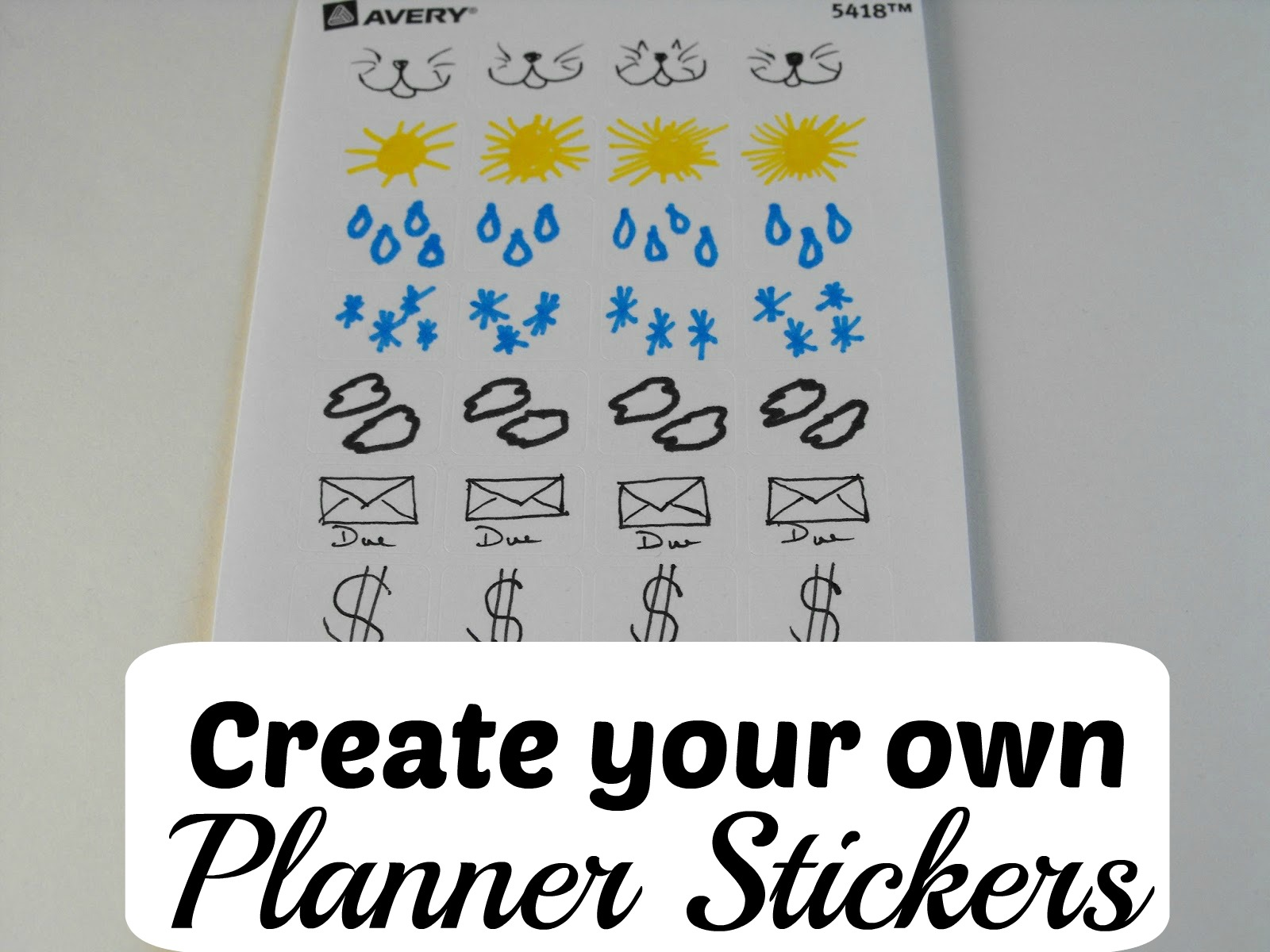 Smile for no reason create your own diy planner stickers for Design my own planner