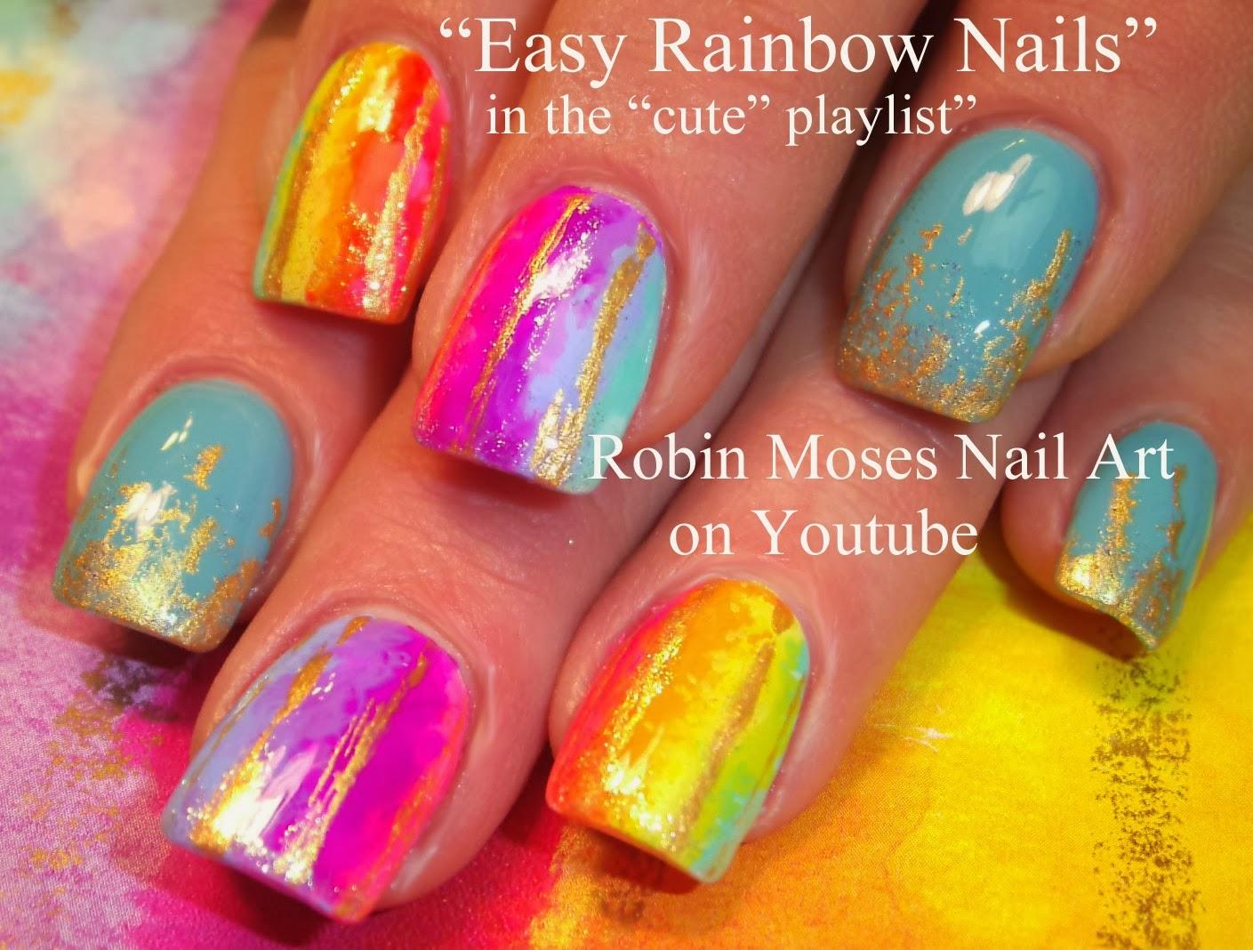 Nail Art By Robin Moses Watercolor Nails Water Color Nail Art
