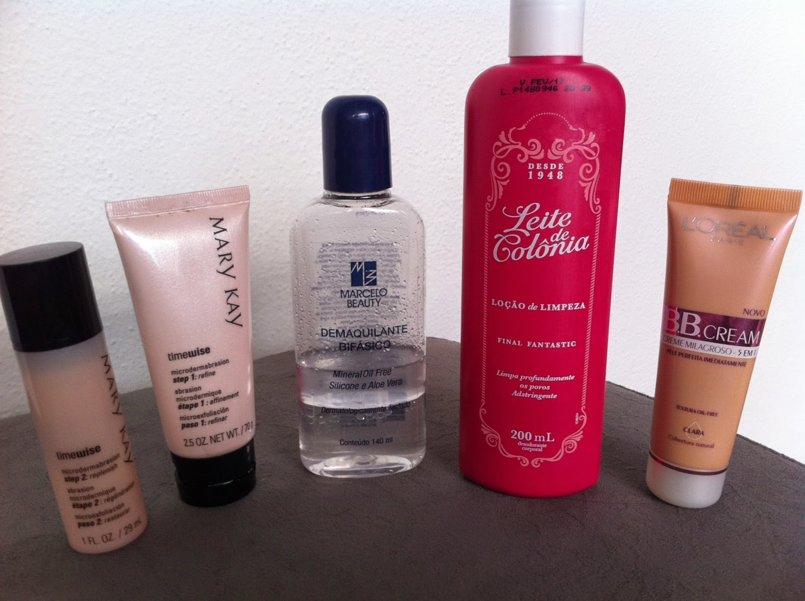Mary Kay, Marcelo beauty, leite de colônia, bb cream loreal