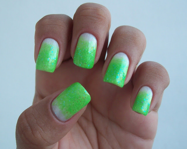 Esponjado Verde + Glitter