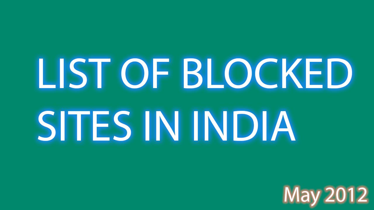 india blocks sites