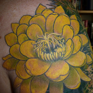 cactus flower tattoo designs
