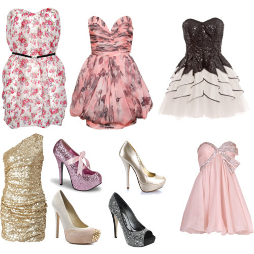Cute dresses fancy pink