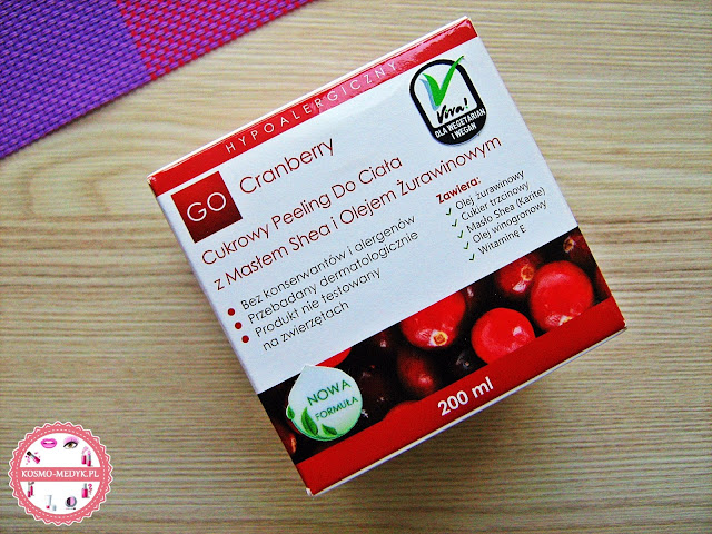GoCranberry - cukrowy peeling do ciała z masłem shea i olejem żurawinowym. Czy ma jakieś inne zastosowania?