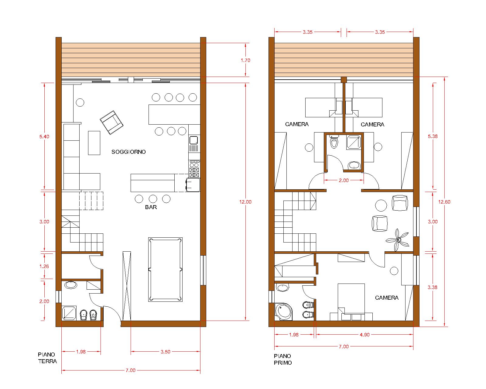 Progetti di case in legno casa 191 mq terrazze 25 mq for Casa moderna pianta