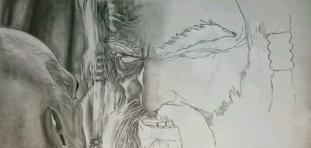 God of war zeus drawing