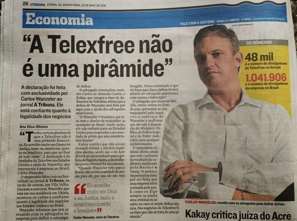 Carlos Wanzeler e Kakay com exclusividade no jornal A Tribuna desta quinta