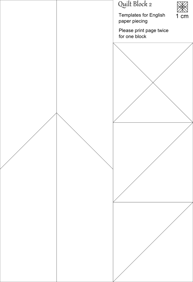 Quilt Patterns And Templates : Imaginesque: Quilt Block 2: Pattern and Templates