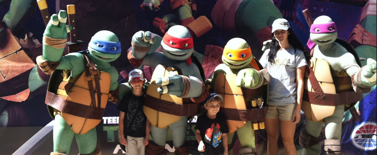 Ninja Turtles at Charlotte Motor Speedway
