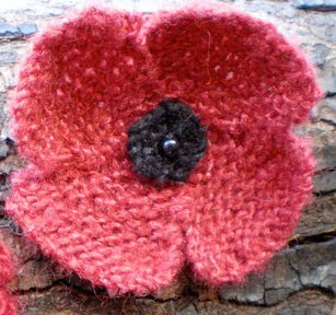 Easy Afghan Knitting Patterns Free : 500 Poppies Project: Knitting Pattern for 500 Poppies Project