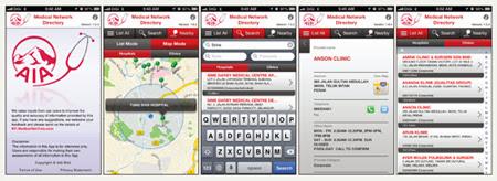 Dengan Apps dari AIA ini, anda tak perlu susah untuk mencari hospital panel. Automatik ditentukan melalui GPS Location anda.