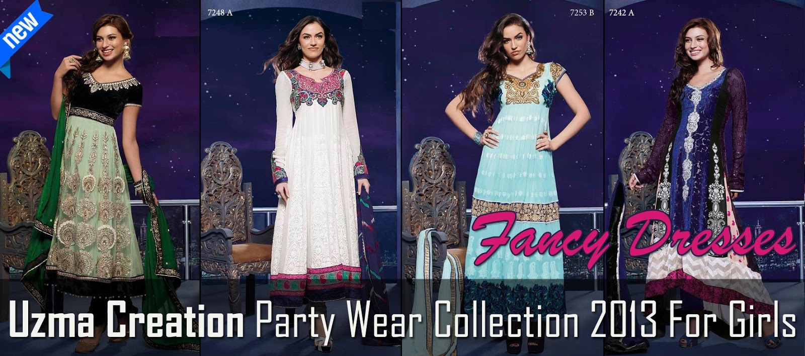 Uzma Creation Party Wear Collection 2013 | Wedding Occasional Fancy ...