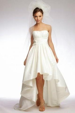 Vestido de Novia Asimetrico Corte A