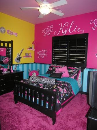 Bedroom designs for girls for Decorating teenage girl bedroom ideas