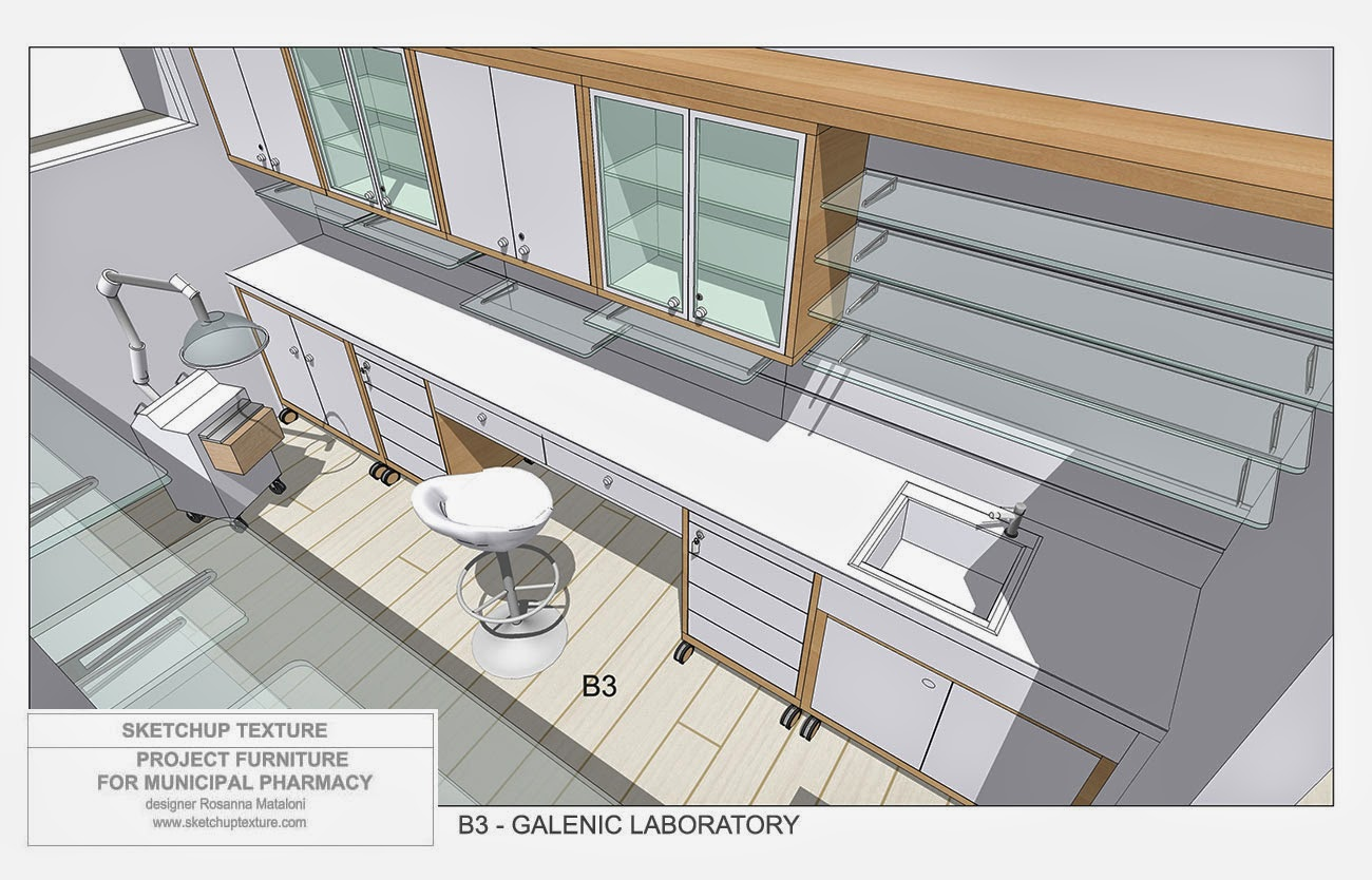 How to design a modern pharmacy 3d sketchup model for Pharmacy design floor plans