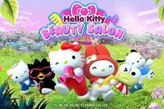 Screenshots of the Hello Kitty: beauty salon for Android tablet, phone.