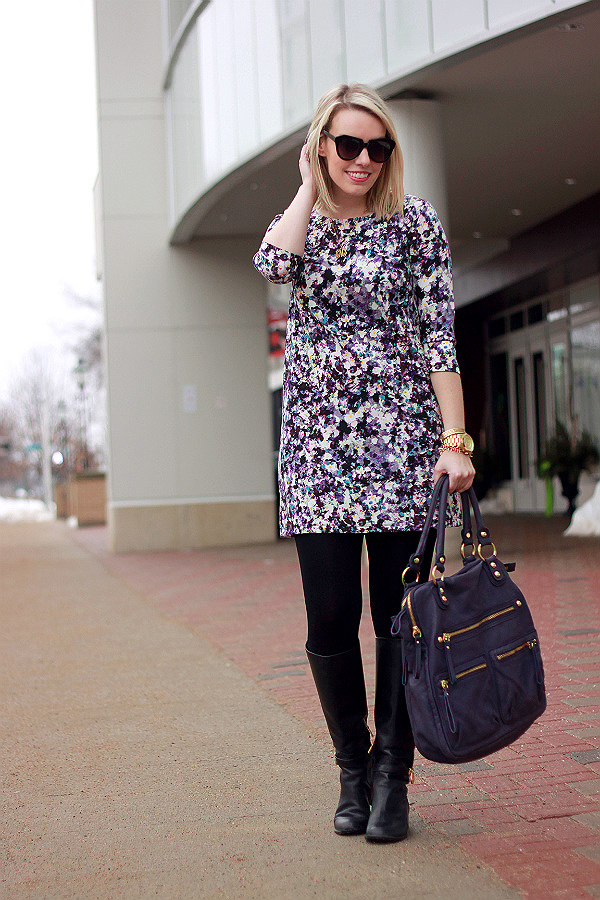 purple watercolor dress