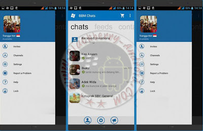 BBM Minimalis Tema Windows Phone New Versi 2.11.0.16 Apk
