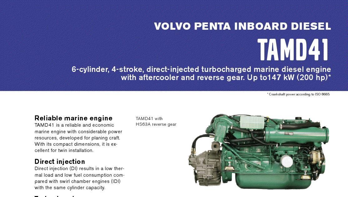 volvo penta tamd 41 service manual free owners manual u2022 rh wordworksbysea com volvo penta ad41p workshop manual Volvo Manual Trans