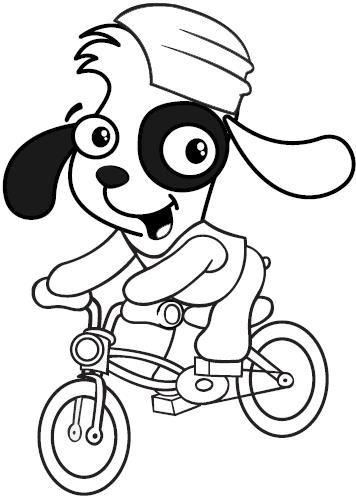 Dibujo de Doki en Bicicleta para Colorear ~ Colorea el dibujos