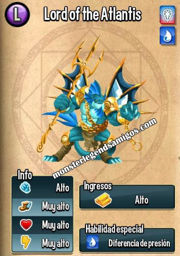 imagen de las caracteristicas del lord of the atlantis de monster legends