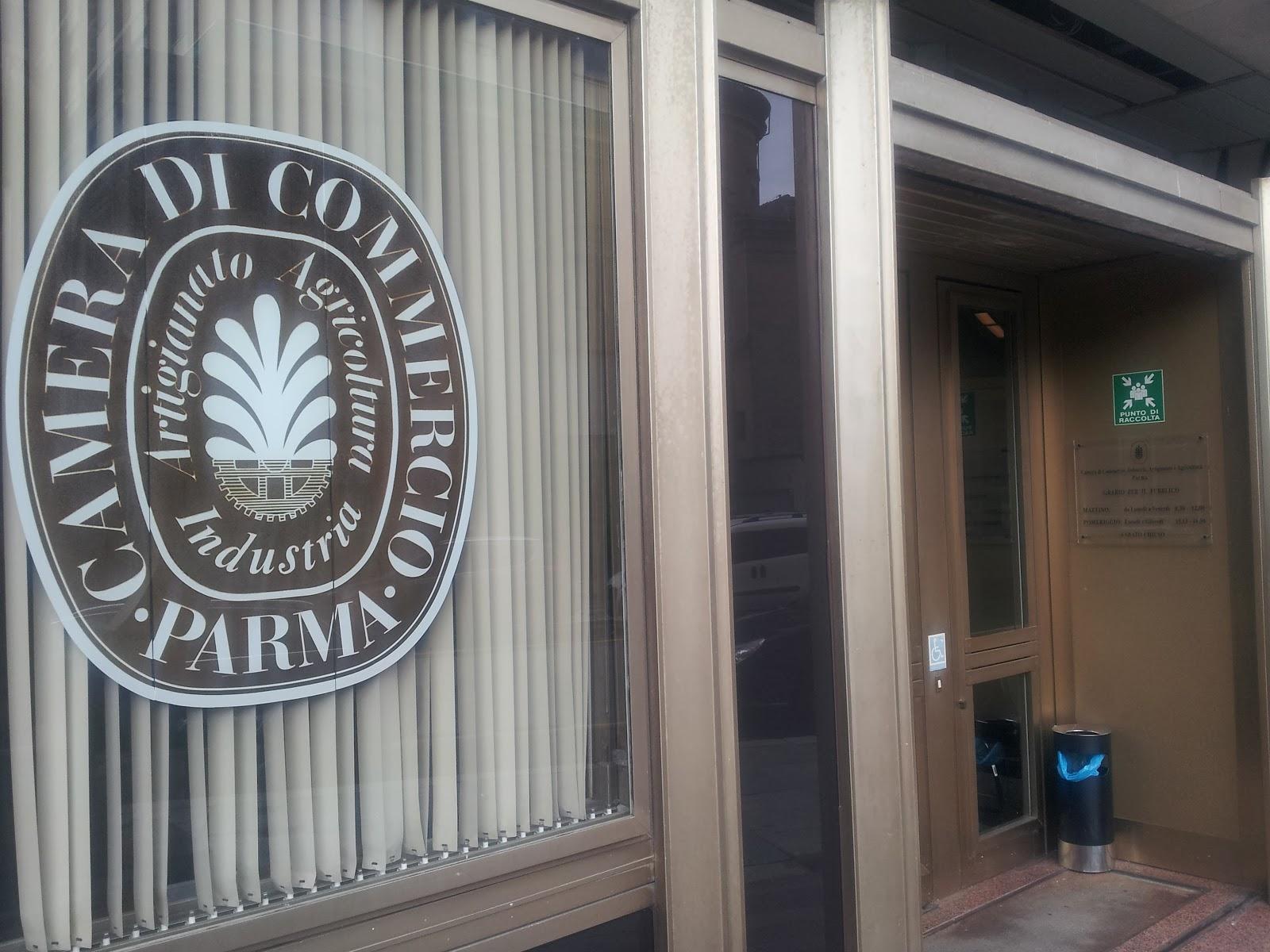 Ingresso Camera di Commercio di Parma