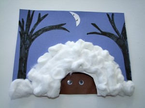plant a seed read a book over and under the snow On hibernation crafts for kids