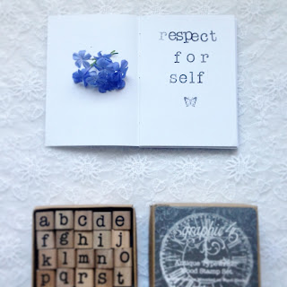 testing my wooden alphabet stamps (photo from heyladyspring.com)