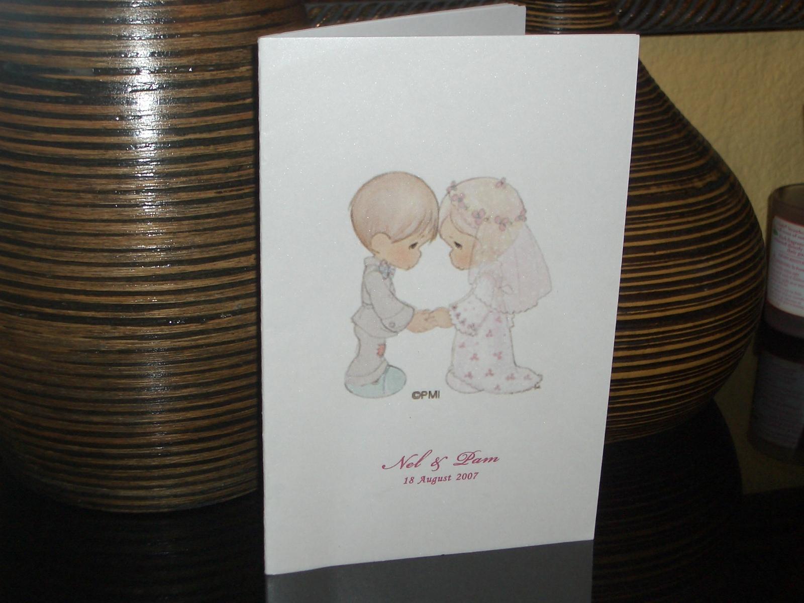 Missalette for golden wedding anniversary