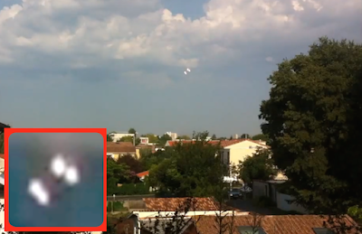 Glowing UFO's Captured Above France 2015, UFO Sighting News