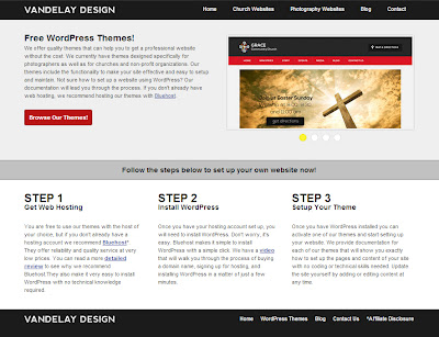 Vandelay Design website