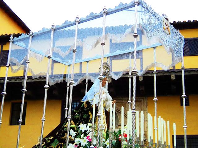 Palio de la Madre de la Paz. Martes Santo. León. Cofradía Santo Cristo del Perdón. Foto G. Márquez.