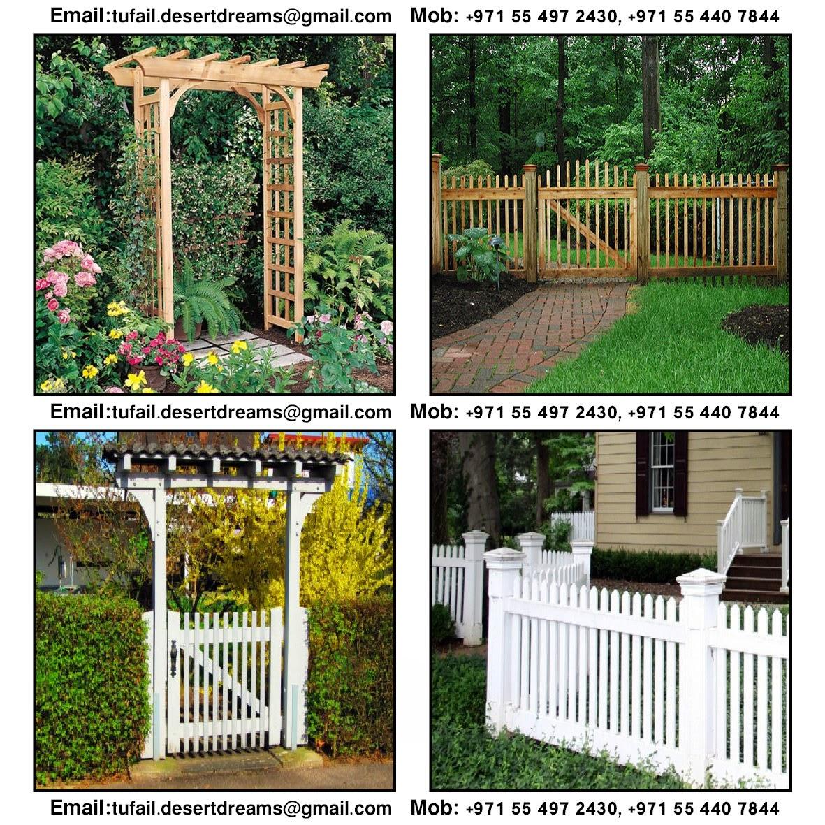 Picket fence westchester picket walpole design innovative creative wooden garden fence gates doors by arab garden in uae baanklon Image collections
