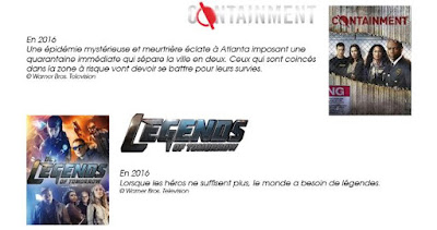 Containment et Legends of Tomorrow sur MYTF1VOD