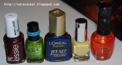 nagellack, nail polish, essie, kleancolor, color cub, viva la diva, loreal